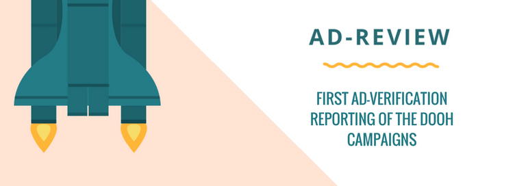 Ad-review, first ad-verification reporting